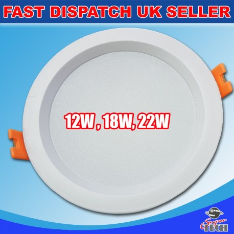 12W Surface Mount Ultra Slim Round Ceiling Panel Cool White 120mm/26mm 1020lm