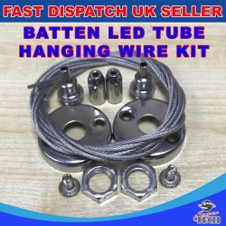 SET OF SUSPENSION MOUNTING WIRE KIT FOR LED LINEAR BATTEN CEILING TUBE LIGHTS