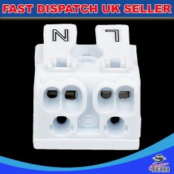 10 x 2 Ways Quick Push Wire Cable Connector Wiring Terminal Block For Led Lighting 24A 220V