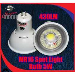12V DC 5W MR16 COB Warm White Spot light, 80 Ra