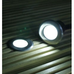 0.5 W Led Deck Light 4000K DC 12V IP67 with 2 x 500mm cable A