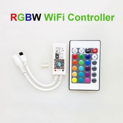 Wifi LED RGBW Controller With Remote DC12V 5 pin