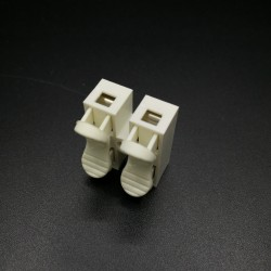 2 Hole 10A Quick Fix Spring Clamp Terminal Block push-in Screw less Wire Connector
