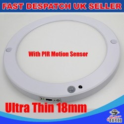 18W Round Ultra Slim 18mm Surface Mount  Build-in Driver PIRSensor Panel light