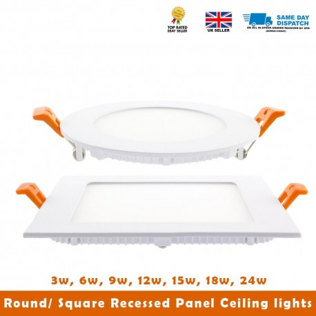 3W-24W LED Recessed Ceiling Flat Panel Down Light Cool White With Driver