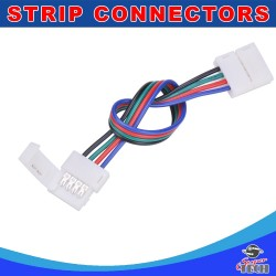 10mm 4 pins RGB strip to strip with 15cm wire IP20 snap led strip connector