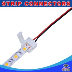 10mm 2 pin LED strip to power connector with 15cm cable  for IP54/IP65