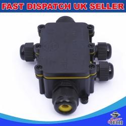 5 Way IP68 Outdoor Waterproof Junction Box Black 24A 450VAC T60 Enclosure Case Box Shell