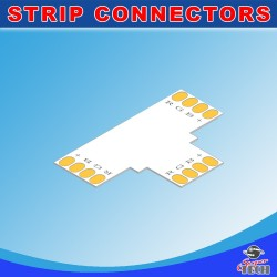 10mm 4 pins T shape connector for IP20 RGB led strip