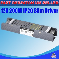 200W Power Supply Adapter IP20 for LED Strip 12V 16.7A DC Transformer