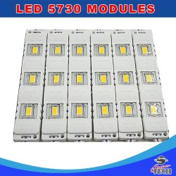 20 X 3 LED 5730 SMD Module Cool White 12V Waterproof Light Signfront shop letter