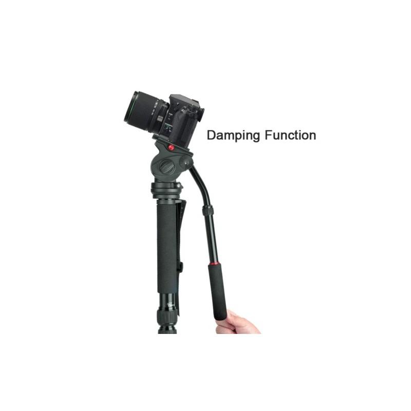 Professional Heavy Duty Photo Video Camera Monopod Stand Kit, Pan & Tilt Head