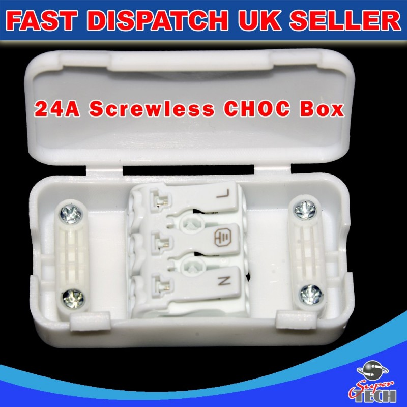 3 Pole Electrical Junction Box 2a 24a 240v Terminal Block