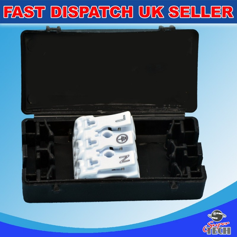 3 POLE ELECTRICAL JUNCTION BOX 2A-24A/240V TERMINAL BLOCK