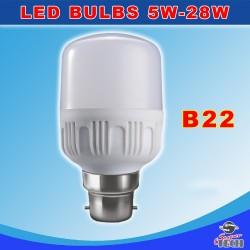 28W B22 Normal Bulb 6000K AC165-265V, PBT+Aluminum 90Lm/W