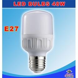 48W E27 Normal Bulb 6000K AC165-265V, PBT+Aluminum 90Lm/W