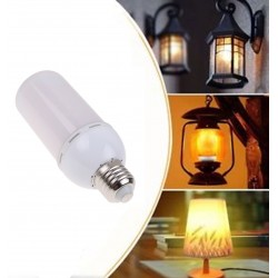 5W E27 LED Flickering Flame Fire Effect Light Bulb Warm White Decor Lamp