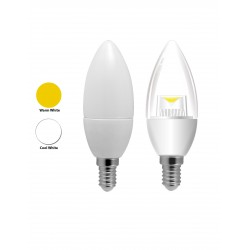 5W E14/SES Candle LED Light Bulbs Cool White/Warm White Clear/Frosted
