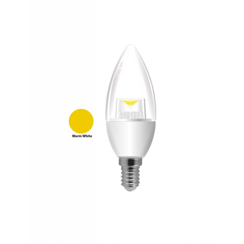 5W E14/SES Candle LED Light Bulbs Cool White/Warm White Clear