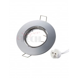 MR16 Lamp Holder Nicket Size 81mm Cut size 55mm Iron Material with 2A 250 V Ceramic socket