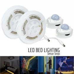 12V 3300 K IP65 Motion Activated Underbed Sensor LED Night cabinet Wardrobes Cupboard Lighting