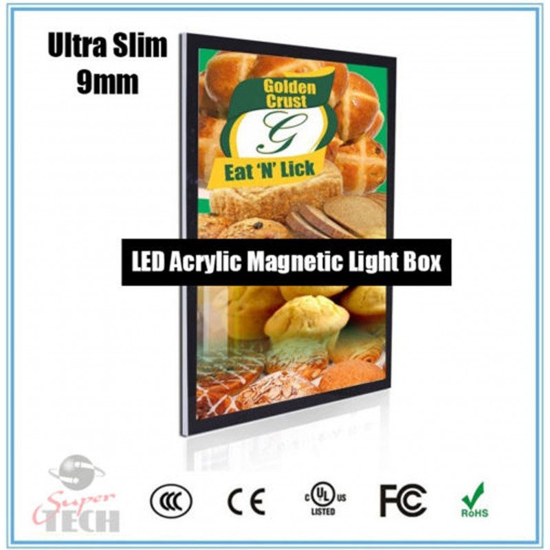 A1 UltraSlim 9mm Acrylic Magnetic Wall Mountedup Lightbox poster display frameCatalog  Products