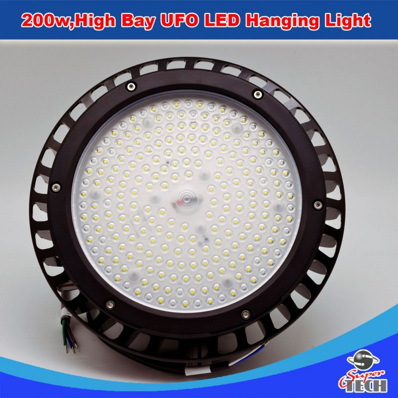 200w High Bay UFO LED Hanging Light Warehouse Replacement