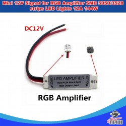 Mini 12V Signal for RGB Amplifier SMD 5050/3528 strips LED Lights 12A 144W