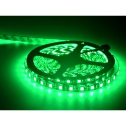 5050 SMD LED Strip, Green Color,60 LED/M 12V, IP65