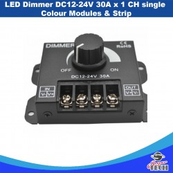 LED Dimmer DC12-24V 30A x 1 CH Signle Colour Modules & Strip