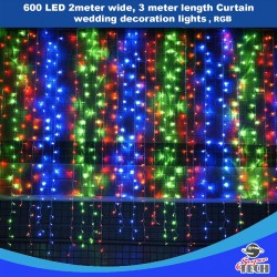 600 LED RGB 2x3 meter Curtain wedding decoration lights