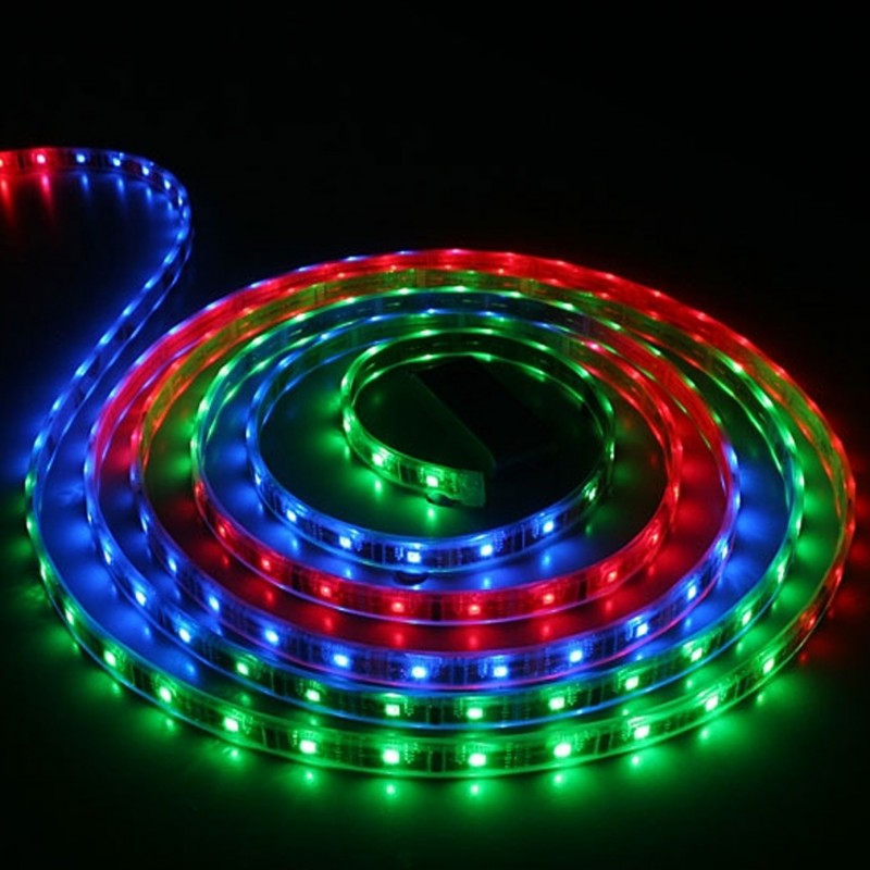 220 V 5050 RGB 60 LED/M, 10 MM PCB RGB Strip light with Accessories