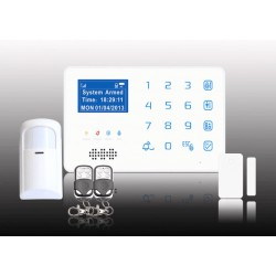 GSM Home Business Burglar Alarm System Phone App Control With Wireless PIR Detection