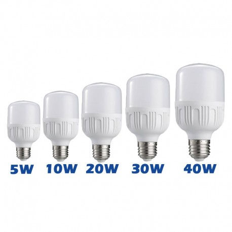 5W 10W 20W 30W 40W E27 LED High Power Light Bulb AC85-265V 50/60Hz