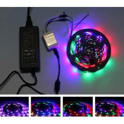 5M 2811 5050 SMD RGB LED STRIP LIGHT 60 led/m 24 KEY REMOTE FULL KIT WITH POWER SUPPLY