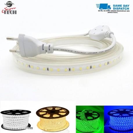 10MM 120 LED/M PCB Strip light 220V IP67  Cool White/Warm White/Blue/Green