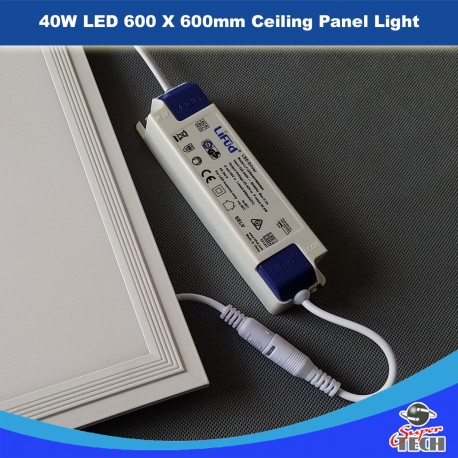 6 X 40W LED 595X 595mm Ceiling Panel Light With Lifud Fliker Free Driver 100Lm/W