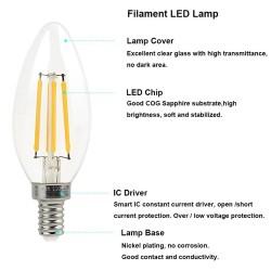 4W-E14-SES-Candle-Filament-LED-Light-Bulbs-Cool-White-6000K-CLEAR