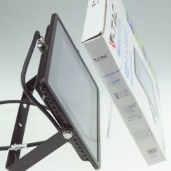 100W SMD Slimline FLOODLIGHT WITH SAMSUNG CHIP Cool White BLACK BODY 800 Watt Alternative