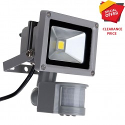 10W LED OUTDOOR GARDEN FLOOD LIGHT PIR MOTION SENSOR SECURITY SPOT IP65 CW
