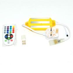 220 V 5050 RGB 60 LED/M, 10 MM PCB RGB Strip light with Accessories
