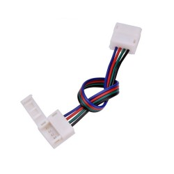 10mm 4 pin RGB LED strip to strip connector with 15cm cable for IP54/IP65
