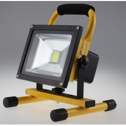 LED Floodlight 20W High Power Portable Rechargeable Work Lamp