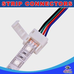 10mm 4 pin RGB LED strip to power connector with 15cm cable IP54/IP65