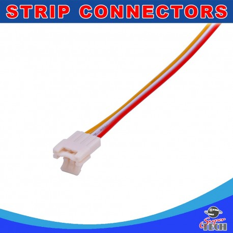 10mm 3 pins strip to wire connector with solid lock design for led strip